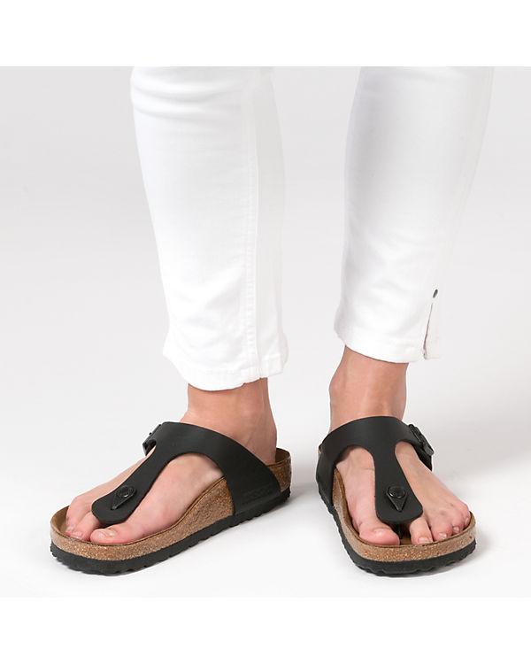 BIRKENSTOCK Gizeh Pantoletten weit schwarz