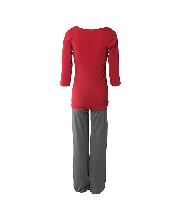 Bebefield Still-Pyjama Wellness grau/rot