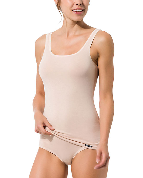 Skiny Tank Top Doppelpack Advantage Cotton beige