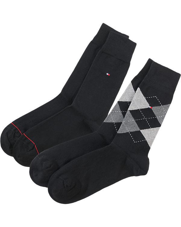 TOMMY HILFIGER 2 Paar Socken schwarz