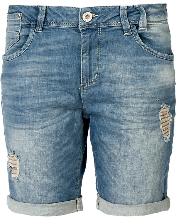 TOM TAILOR Denim Jeansbermudas  Lina grau