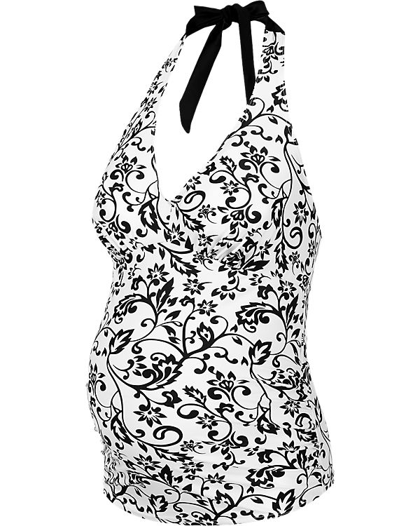PETIT AMOUR Umstandstankini-Top BLACK & WHITE Maxicup (D-E)