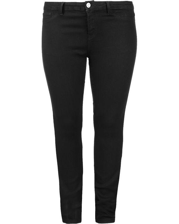 JUNAROSE Jeans Slim schwarz