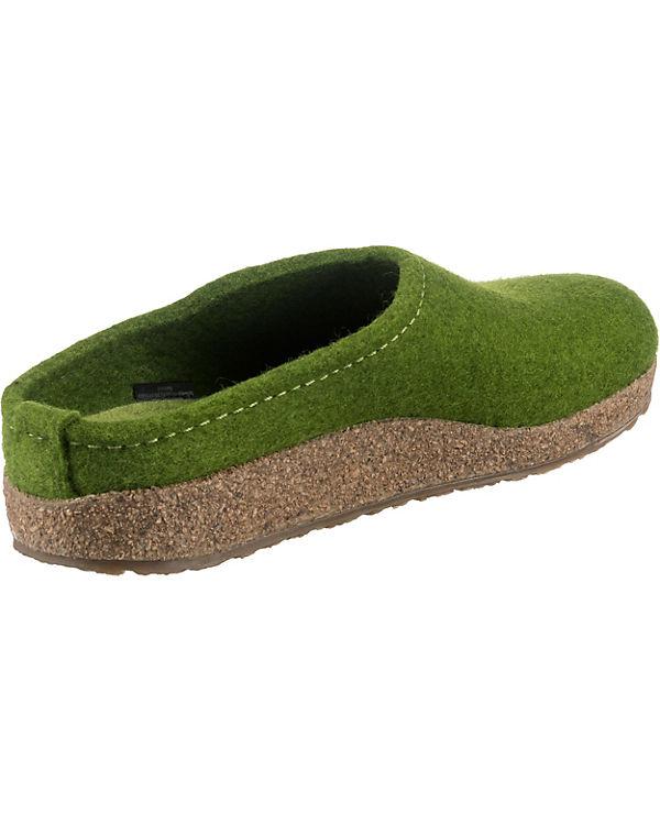 HAFLINGER Grizzly Kanon Hausschuhe grün