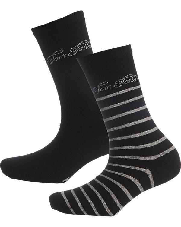 TOM TAILOR 2 Paar Socken schwarz