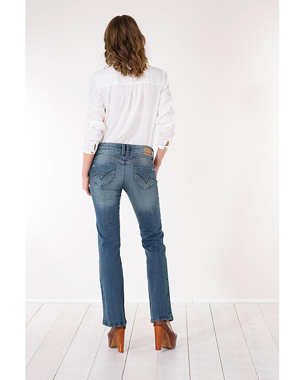 TIMEZONE Jeans Greta Bootcut dark blue denim