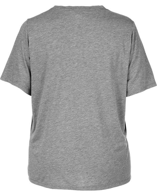 Zizzi T-Shirt rosa/grau