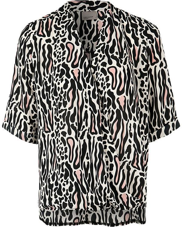 VERO MODA Bluse schwarz/weiß