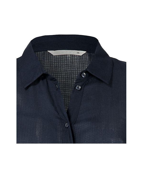 ONLY Blusenkleid dunkelblau