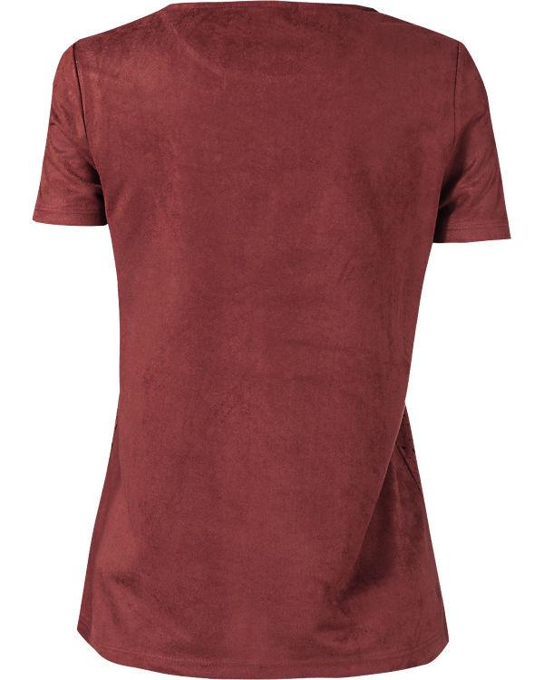 VERO MODA T-Shirt dunkelrot