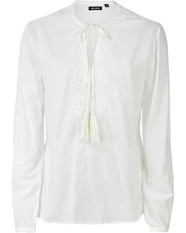 blue Bluse offwhite