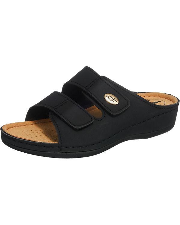 Franken-Schuhe Pantoletten schwarz