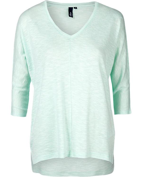 s.Oliver DENIM 3/4-Arm-Shirt mint