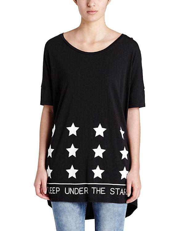 BENCH Longshirt schwarz/weiß