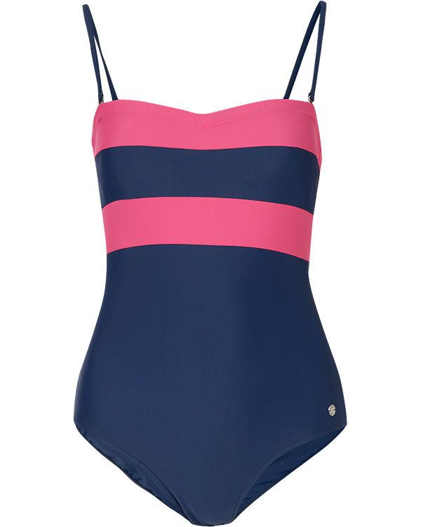 SCHIESSER Badeanzug pink/blau