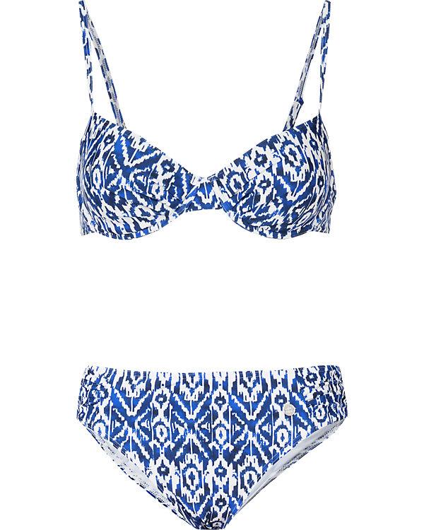 SCHIESSER Bikini blau/weiß