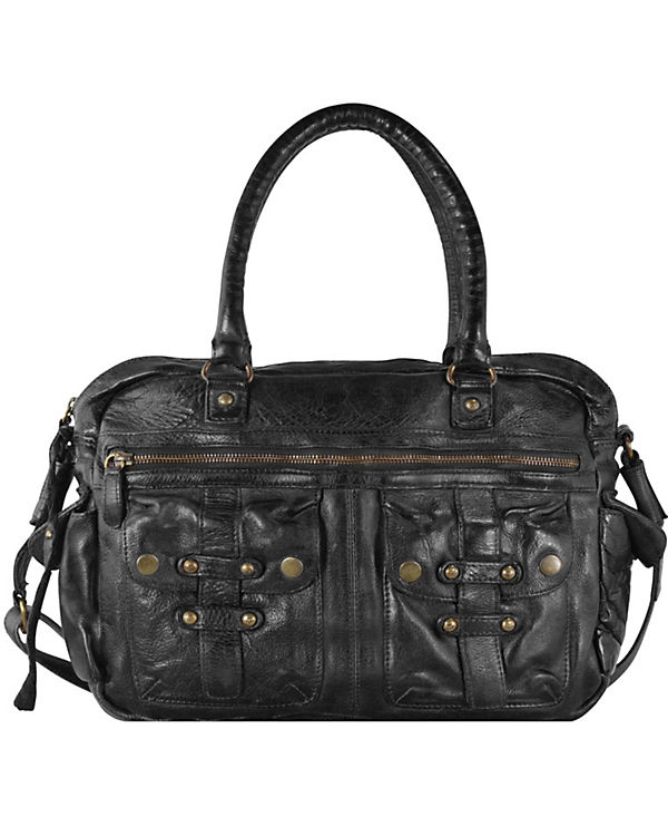 Billy the Kid Billy the Kid Daytona Handtasche Leder 42 cm schwarz