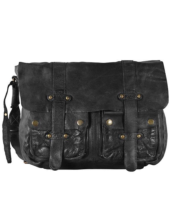 Billy the Kid Billy the Kid Daytona Messenger Bag Leder 38 cm Tabletfach schwarz