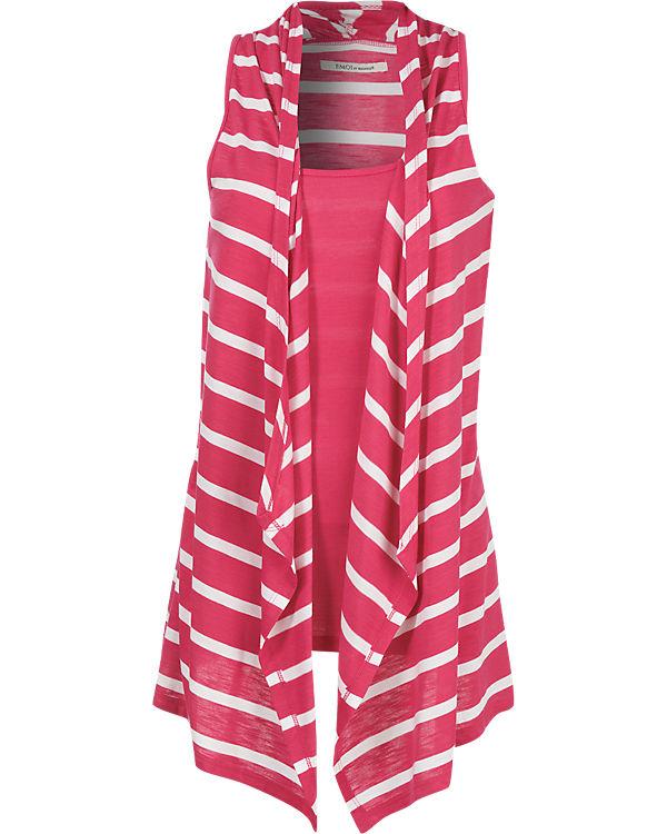 EMOI Weste pink/weiß