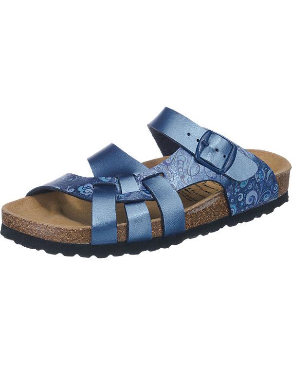 LICO Bioline Flora Pantoletten blau