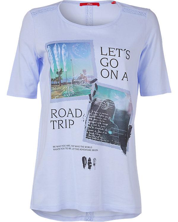 s.Oliver T-Shirt hellblau