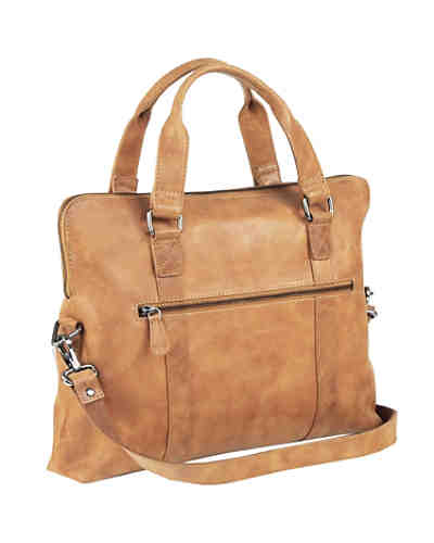 Greenland Nature Light Shopper Tasche Leder 38 cm Tabletfach