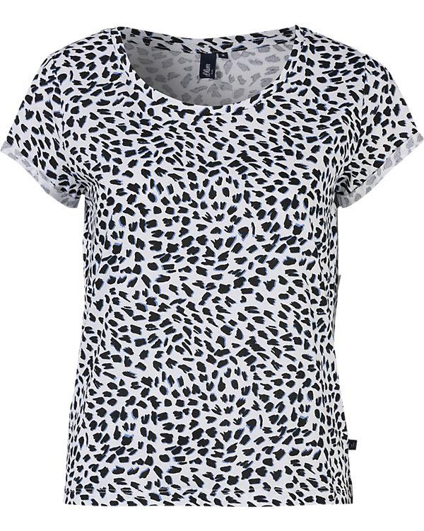 s.Oliver DENIM T-Shirt schwarz/weiß