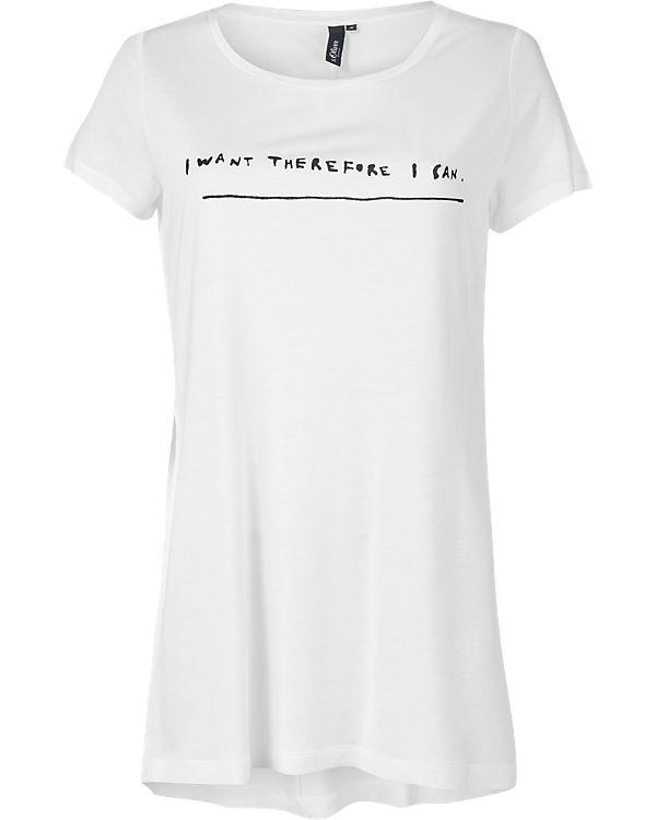 s.Oliver DENIM T-Shirt weiß