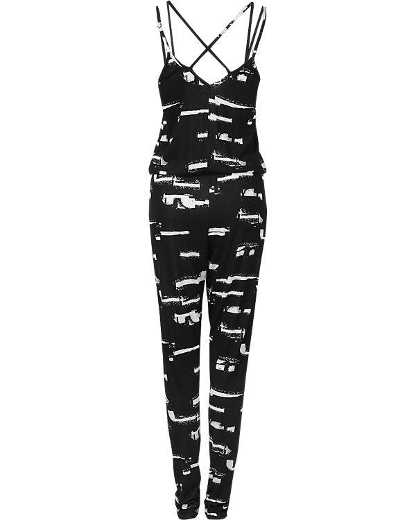 ICHI Jumpsuit schwarz/weiß