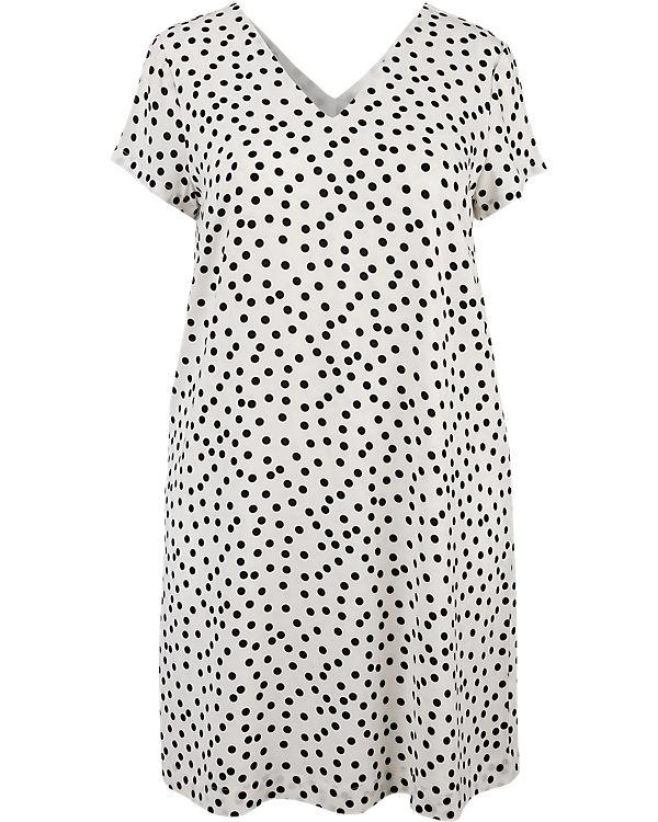 Zizzi Kleid schwarz/weiß