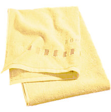 Badetuch, Solid, gelb, Baumwolle, 75 x 140 cm