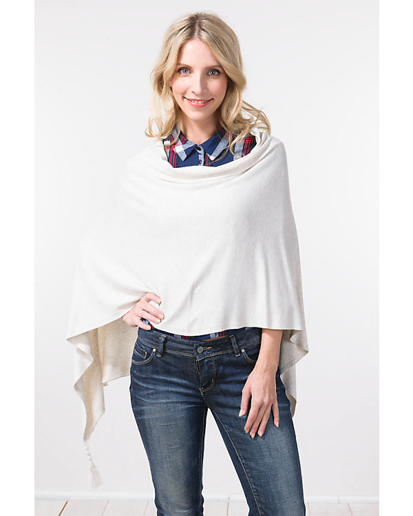 TOM TAILOR Poncho offwhite