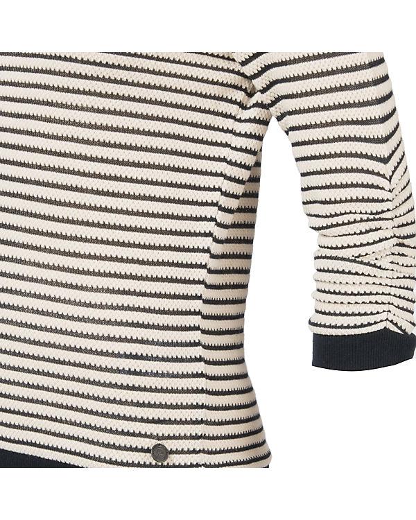 TOM TAILOR Denim Pullover schwarz/weiß