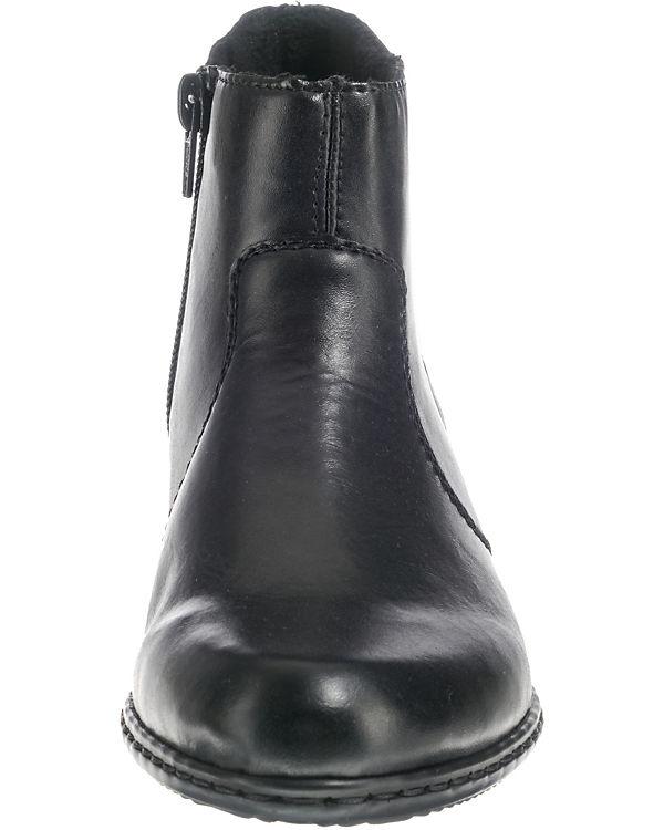 rieker Stiefeletten schwarz-kombi