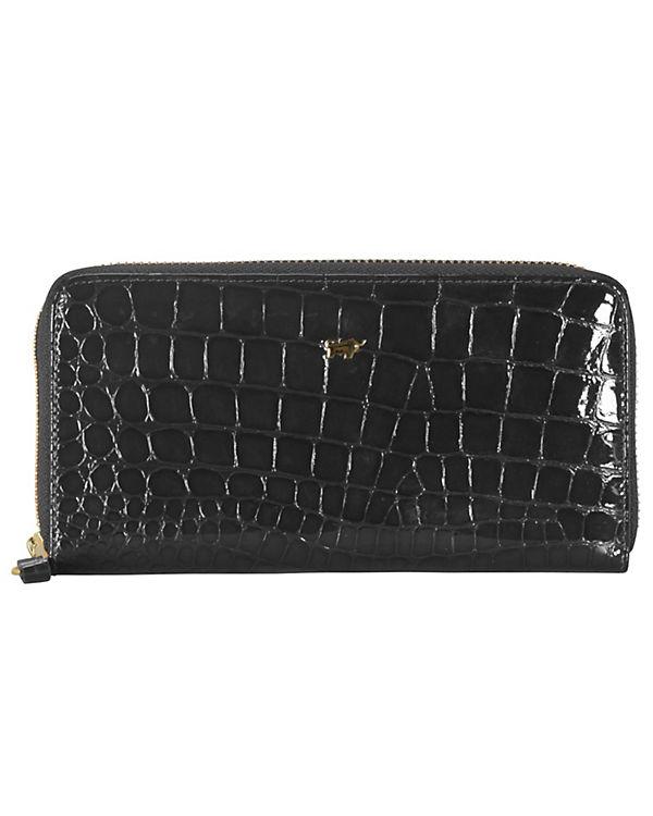 Braun Büffel Braun Büffel Glanzkroko Geldbörse Leder 18,5 cm schwarz