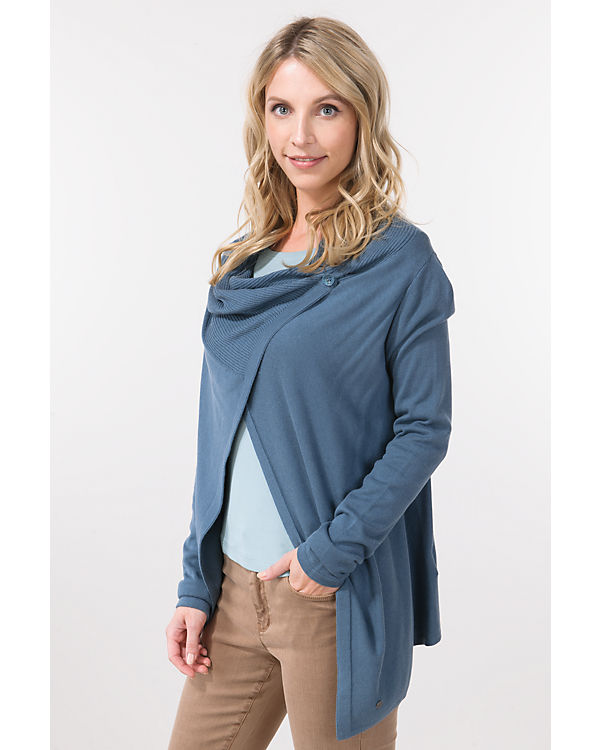 TOM TAILOR Strickjacke blau