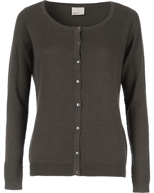 VERO MODA Strickjacke anthrazit