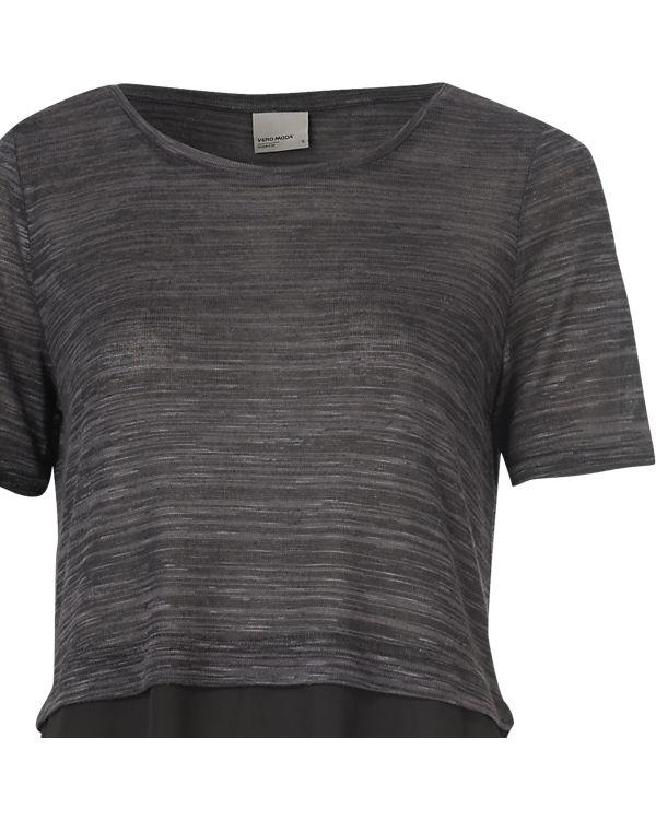 VERO MODA T-Shirt dunkelgrau