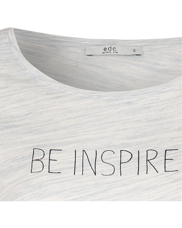 edc by ESPRIT T-Shirt hellblau