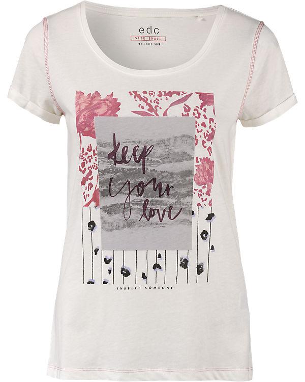 edc by ESPRIT T-Shirt offwhite