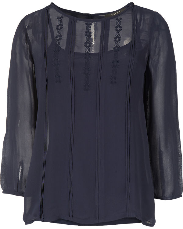 ESPRIT collection Bluse dunkelblau