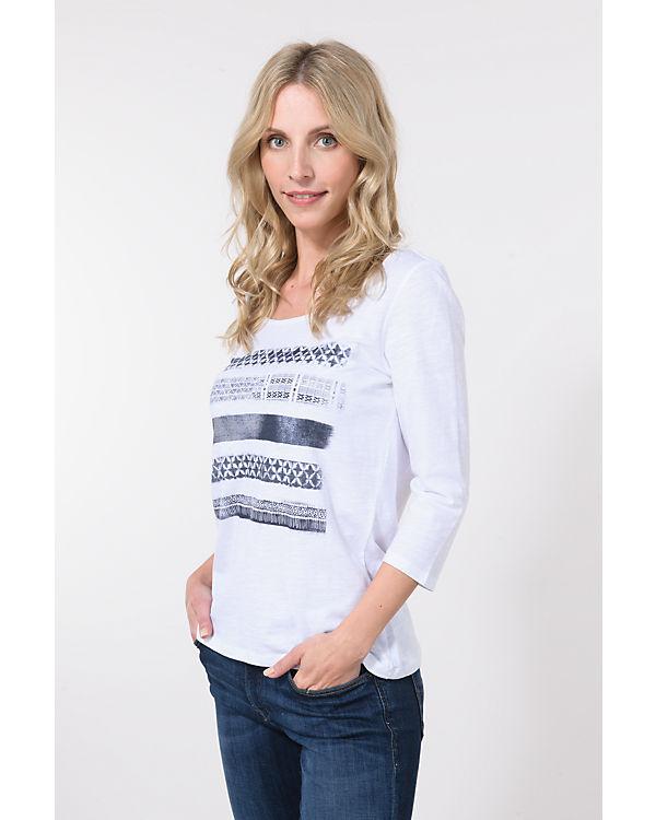 ESPRIT 3/4-Arm-Shirt weiß-kombi