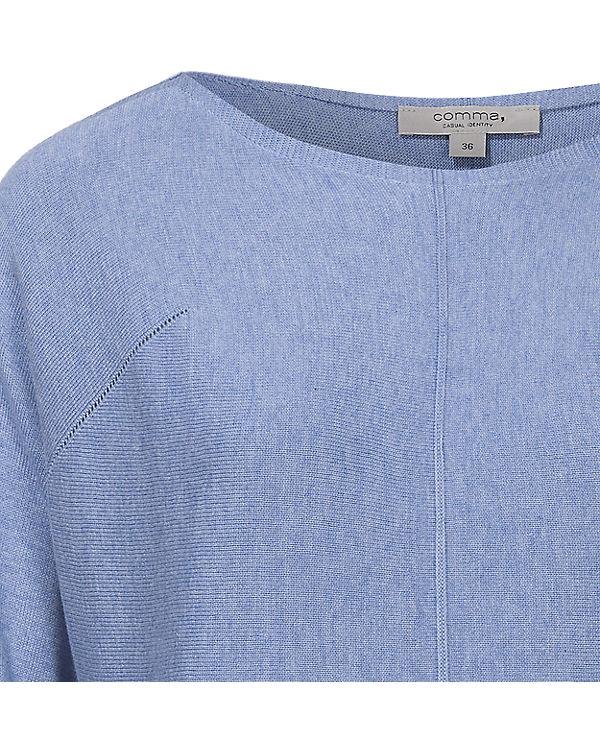 Comma Casual Identity Pullover blau