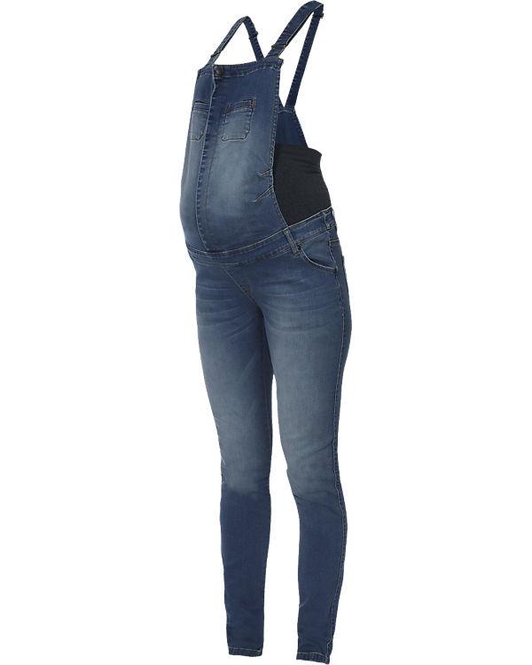 LOVE2WAIT Umstandslatzhose Jeans Salopette blau