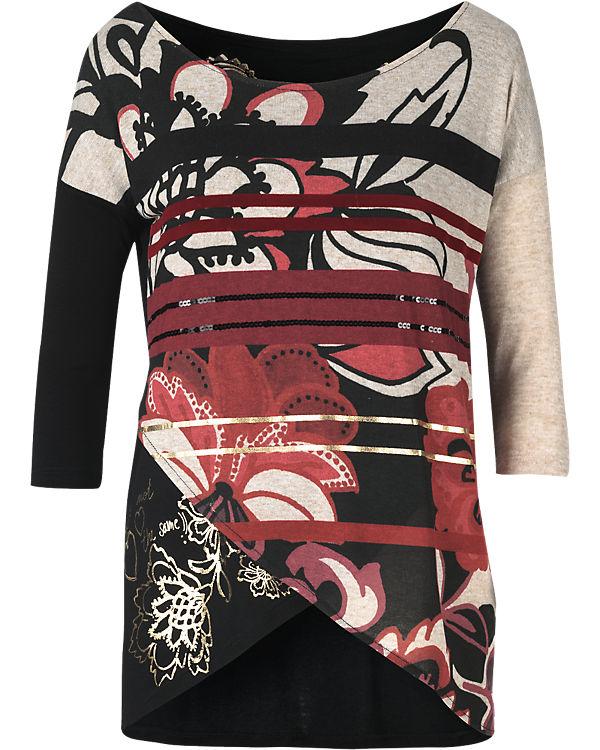 Desigual Pullover rot-kombi