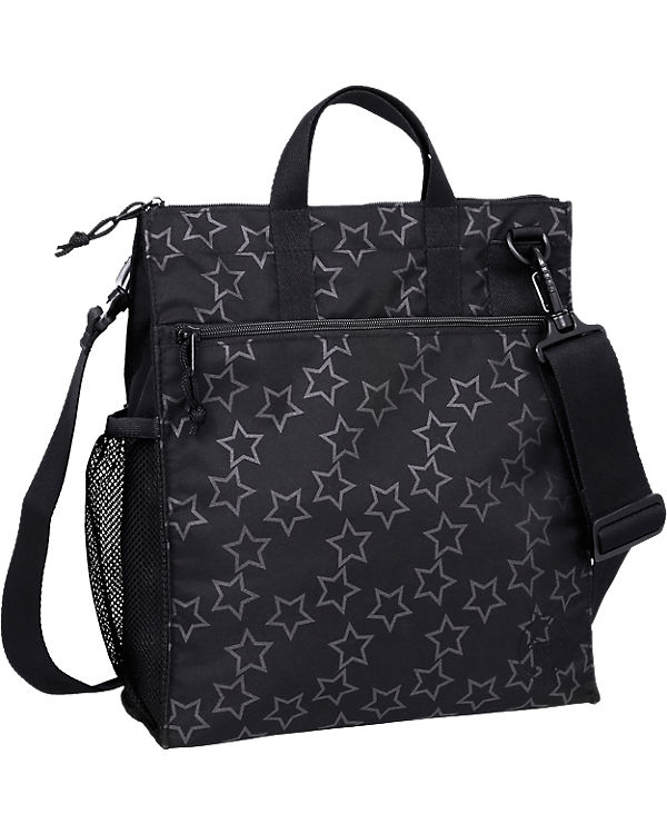 Lässig Wickeltasche Casual, Buggy Bag, Reflective Star, black schwarz