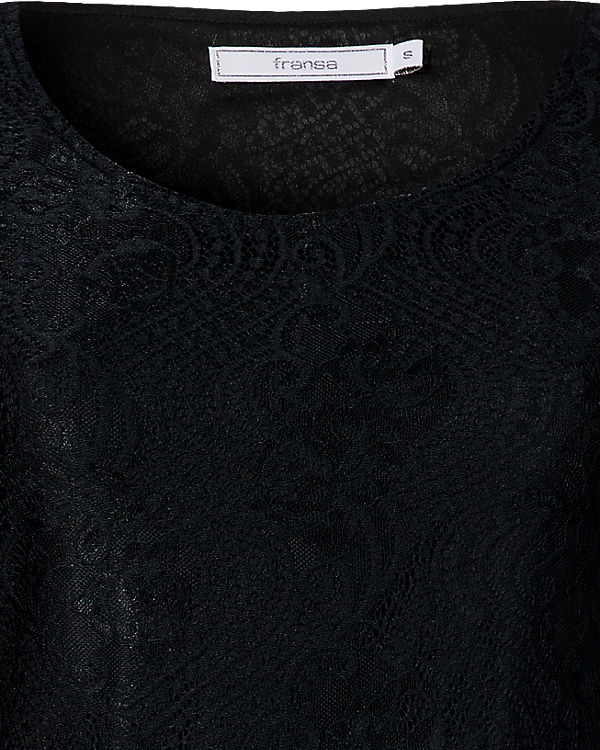 fransa Spitzenkleid schwarz