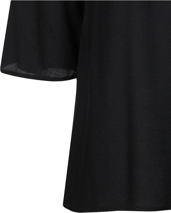 fransa 3/4-Arm-Bluse schwarz
