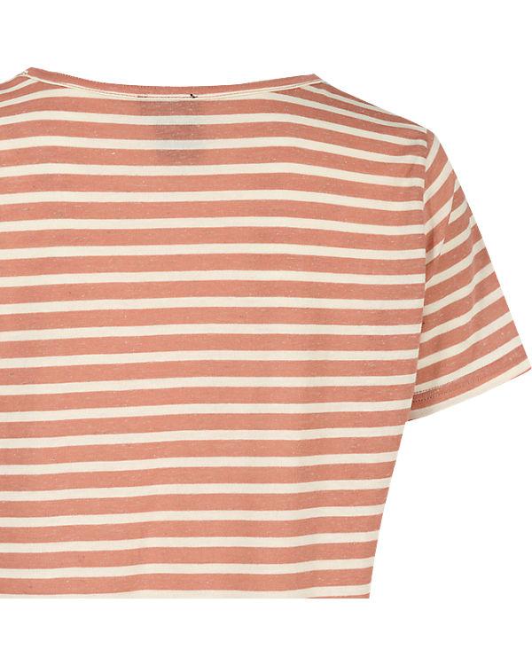 ICHI T-Shirt orange/weiß