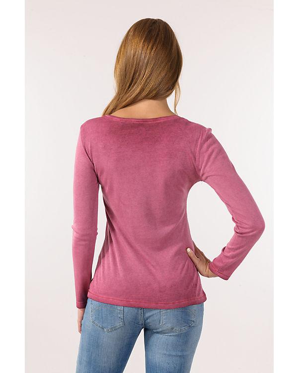 blue Langarmshirt pink